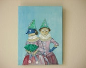 RESERVE - The Costume Party - Original Oil Painting