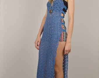 15% OFF Lace Cut Out Festival Maxi Slip Dress