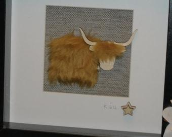 Hairy highland cow, Framed Gift