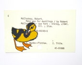 Duckling Library Card Art - Make Way for Ducklings - Art Print