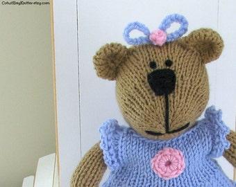 Hand Knit Bear Stuffed Animal - Child Toy - Knit Teddy Bear - Kids Toy - Stuff Bear Plush Doll - Small Toy - Knit Toy - Kids Gift Stephanie