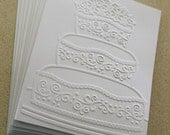SALE Wedding card set, set of eight embossed wedding card, gift idea, wedding shower, bridal shower, engagement, wedding thank you card