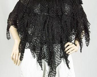 Crochet Women's Dressy  Evening Poncho