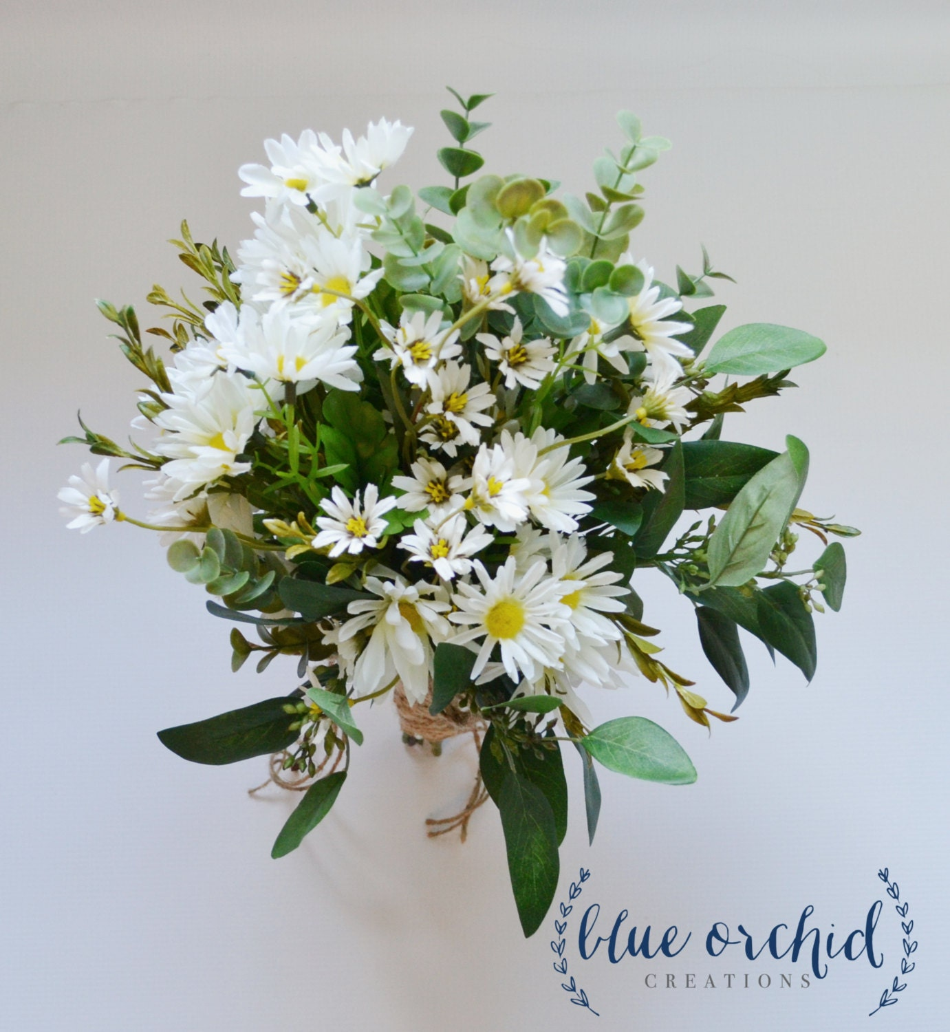 Wild Daisy Bouquet With White Wildflowers And Small White