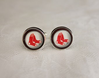 Boston Red Sox Cuff Links made from Baseball Trading Cards