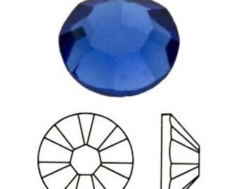 57 pc Swarovski Crystal Flatback Sapphire Blue 3mm ss12 gemstones 2028 Hotfix Iron on Bling