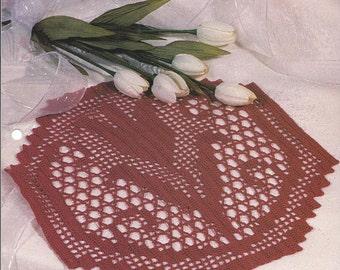Tulip Filet House Of White Birches Collectible Doily Series Doily Tulip Filet Crochet