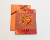 Chiyogami Paper Card - Origami Greeting Card - Japanese Paper Card - Handmade Greeting - All Occasions - Yuzen Paper Card - Blank Inside
