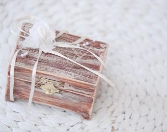 Rustic Ring Box Wedding Ring Ring Bearer Pillow Ring Box Beige Wedding Proposal Ring Box Wood Keepsake Box