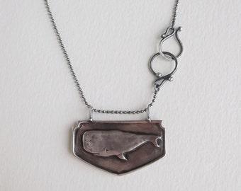Whale necklace- nautical animal jewelry