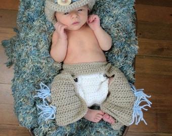 Lil' Cowboy Photo Prop Set 0-6 Months