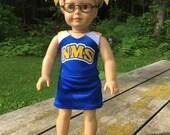 May 24th  2016 American Girl Doll Custom Cheer Uniform