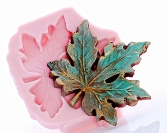 Large Maple Leaf Silicone Mold - Food Safe Flexible Mold Fondant Chocolate Candy  - Jewelry Craft Mold Resin Polymer Clay Soap Wax (745)
