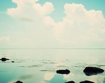 Stillness - Florida photography, ocean art, blue, ocean landscape, fine art photograph, Florida Keys, nature print