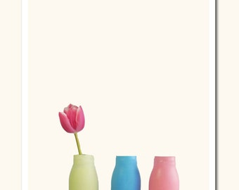 FINE ART PRINT Photography vases with Tulip Art Print