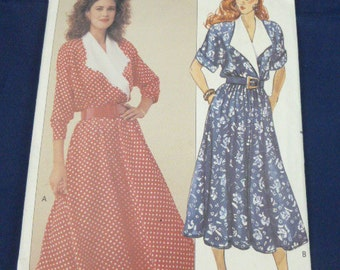 Butterick 3268 SZ 6 8 10 Pattern Very Easy Misses Dress 1989 Uncut