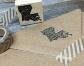 Calligraphy State - Address Stamp - States - FREE SHIPPING