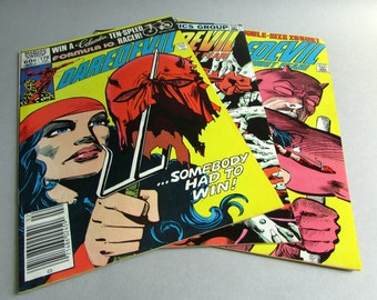 Choice of Vintage Daredevil Comic Books, No. 179, No. 180, or No. 181, February, March, or April 1982, Marvel Comics