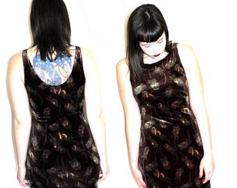 90s Brown Velvet Maxi Dress