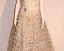 Vintage 50s Wedding/Ball Gown
