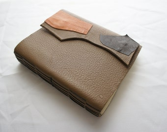 handcrafted blank book (long-stitch style)