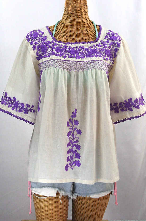 White Mexican Peasant Blouse