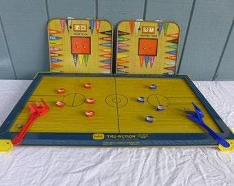 1950s Tru Action Electric Basketball Game by Tudor Model 575 Vintage Collectible Sports Game Vibrating Board Original Box Metal Tin Toy
