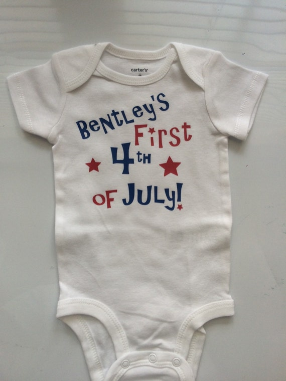 July Baby Boy Girl Personalized Bodysuit Shirt