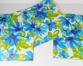 Vintage Gift Wrap - Blue Floral