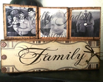 Family Photo Blocks, Mother's Day Gift, Wedding Gift, Block Set, Wedding Block Set, Photo blocks, Grandchildren Photo Blocks, Blessed Blocks