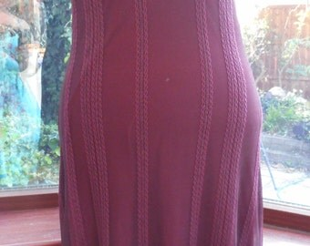 Ready to ship prom dance stage party vacation chiffon burgandy lace and stretch lycra lined size UK-10 and USA size6