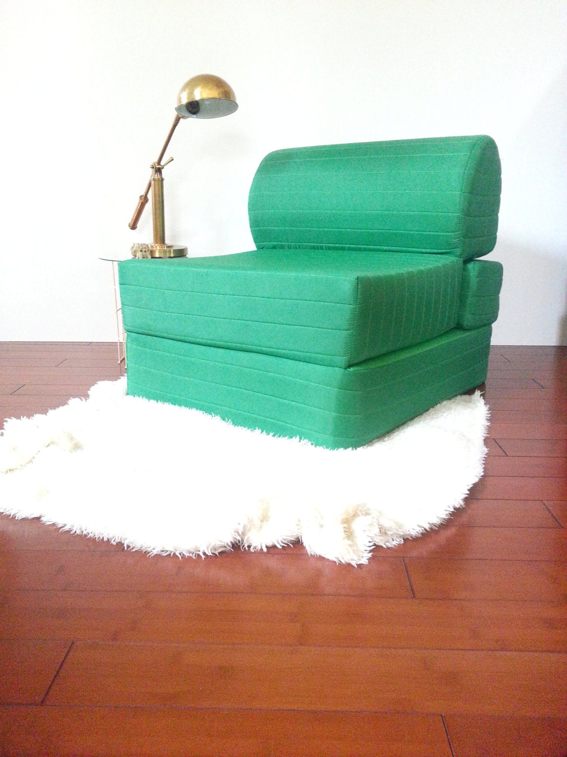 Vintage Retro Chair Foam Flip Out Chair to Bed 70's 80's Original Vibran