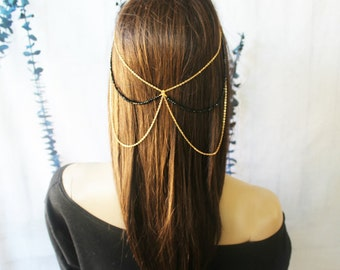 Boho Beaded Headband, Women's Headband, Coin Headband, Versatile Headband, Hair accessories