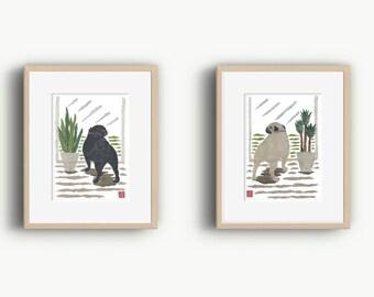 Choose One, Pug Art, Pug Dog, Pug Gift, Pug Print, Pugs, Pugs Dog Art, Pug Illustration