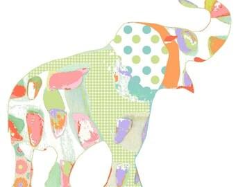 baby girl nursery decor, nursery art, nursery decor, baby girl decor, elephant art, elephant nursery, girl nursery decor, nursery wall art