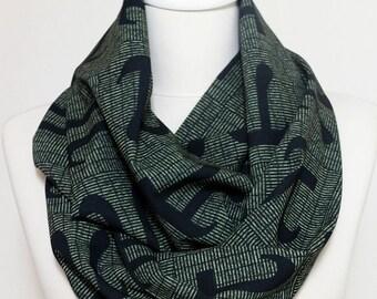 Pi Infinity scarf, Black Scarf, Pi Symbol Circle scarf, Loop scarf, scarves, spring - fall - winter - summer fashion