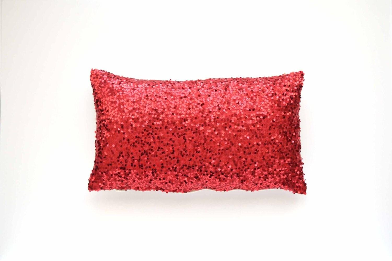 Red Taffeta Pillows