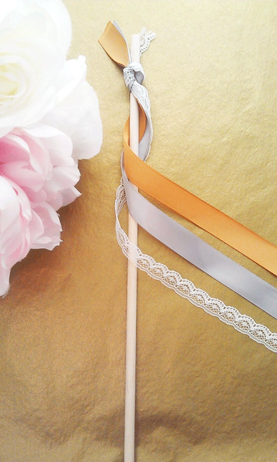 120 Wedding Wands with triple satin ribbons no bell / bubbles wand / wedding sparklers / rice alternative / shabby wedding / rustic wedding