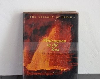 Collectible Vintage Book Volcanoes in The Sea The Geology of Hawaii Vintage Science Book Illustrated Hardcover Coffee Table Book Volcano