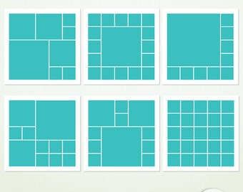 """Digital Scrapbook Templates - 12"""" x  12"""" PSD Tif - """"Going Square"""" - Photoshop & Elements - Personal and Commercial G9022"""