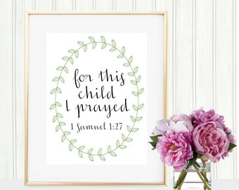For This Child I Prayed Print