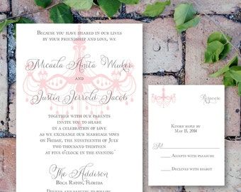 Printable Chandelier Invitation