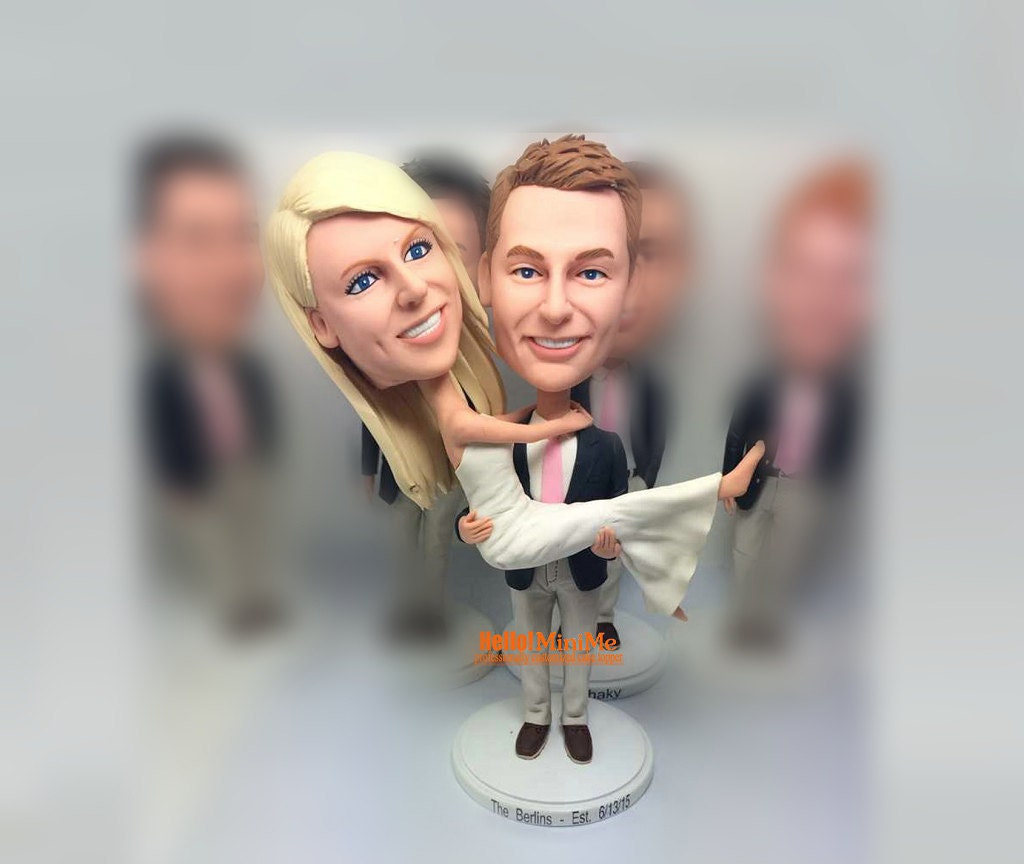 bobblehead wedding cake toppers personalized custom bobblehead wedding cake topper bobble custom cake 12068