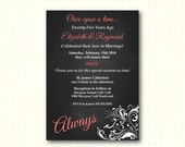 Vow Renewal Invitation, always, classy, modern, anniversary, 10th, 20th, 25th, 30th, 40th, 50th, chalkboard invite digital printable, W1425