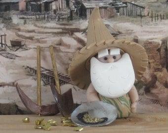 Gnome for Desert Prospector Fairy Garden OOAK handmade miniature