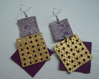 Special suede-leather earrings