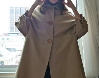 1950s Simonetta Coat  So Rare Bell Cocoon High Fashion Couture 1960s Made in Italy - Mint
