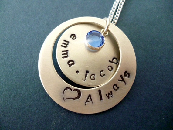 Couples Necklace, Personalised Childrens Names Necklace, Silver Necklace with Names, Mother and Child Necklace, Family Names Necklace,