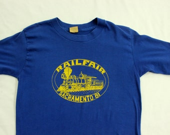 Railfair Sacramento 1980's T-Shirt L California Railroad