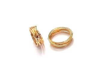 Large Gold Wrap ring - Wrapped Ring - Gold Handmade Ring - Alternative Wedding Ring - 14k Gold Filled Ring - Handmade gold Infinity Ring